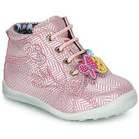 Boty Dívčí Kotníkové boty Catimini SALAMANDRE Růžová - stříbrná