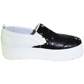 John-C Street boty Čiernobiele topánky na vysokej platforme s flitrami CORRA - Bílá