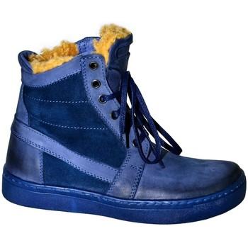 Boty Ženy Zimní boty Krezus DÁMSKE TMAVOMODRÉ ČLENKOVÉ ČIŽMY BEATRIX tmavomodrá