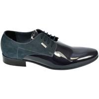 Boty Muži Šněrovací společenská obuv Basso Lavagio PÁNSKE TMAVOMODRÉ LAKOVANÉ POLTOPÁNKY OSWALD tmavomodrá