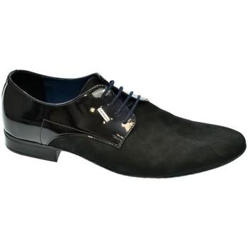 Boty Muži Šněrovací společenská obuv Basso Lavagio PÁNSKE ČIERNO/MODRÉ POLTOPÁNKY OSWALD čierna