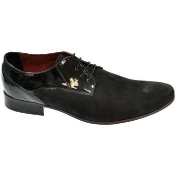 Boty Muži Šněrovací společenská obuv Basso Lavagio PÁNSKE ČIERNO/ČERVENÉ POLTOPÁNKY CLARENCE čierna