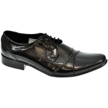 Boty Muži Šněrovací společenská obuv Wograhen PÁNSKE ČIERNE LAKOVANÉ POLTOPÁNKY CARLING čierna