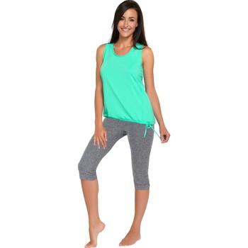 Textil Ženy Pyžamo / Noční košile Winner Fitness capri Capri melange