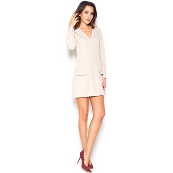 Textil Ženy Šaty Katrus Dámské šaty K373 beige
