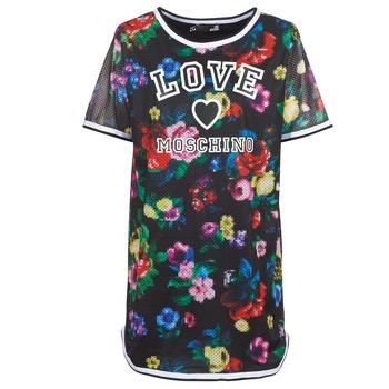 Textil Ženy Krátké šaty Love Moschino W5A0302 Černá / Vícebarevná