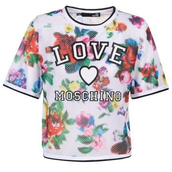 Textil Ženy Halenky / Blůzy Love Moschino W4G2801 Bílá / Vícebarevná