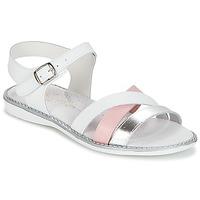 Boty Dívčí Sandály Citrouille et Compagnie IZOEGL Bílá / Růžová / Stříbřitá