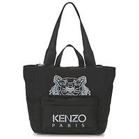 Taška Ženy Velké kabelky / Nákupní tašky Kenzo KANVAS TIGER TOTE LARGE Černá