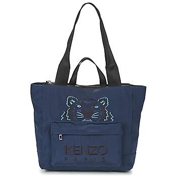 Taška Ženy Velké kabelky / Nákupní tašky Kenzo KANVAS TIGER TOTE LARGE Tmavě modrá