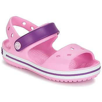 Boty Dívčí Sandály Crocs CROCBAND SANDAL Tělová / Růžová / Purpurová