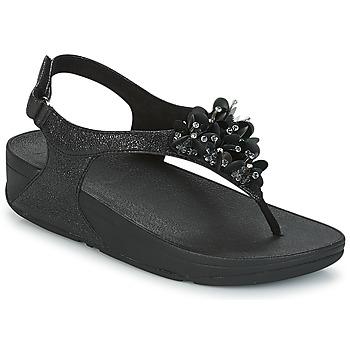 Boty Ženy Sandály FitFlop BOOGALOO BACK STRAP SANDAL Černá
