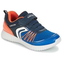 Boty Chlapecké Nízké tenisky Geox J WAVINESS B.C Tmavě modrá / Oranžová