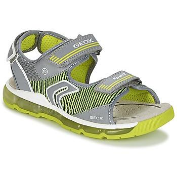 Boty Chlapecké Sportovní sandály Geox J S.ANDROID B.A Šedá / Zelená