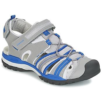 Boty Chlapecké Sportovní sandály Geox J BOREALIS B. C Šedá / Modrá