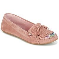 Boty Ženy Mokasíny Ippon Vintage MOC-WAX-ROSE Růžová