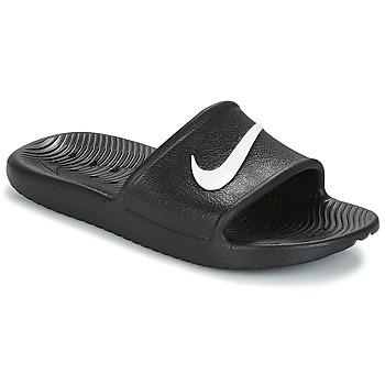 Boty Ženy pantofle Nike KAWA SHOWER SANDAL W Černá / Bílá