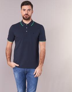 Textil Muži Polo s krátkými rukávy Benetton MADURI Tmavě modrá