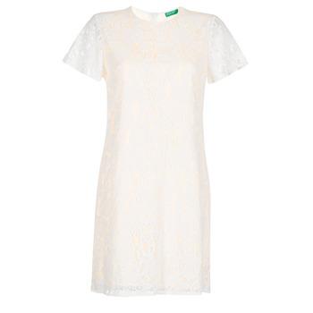 Textil Ženy Krátké šaty Benetton PRISTOUC Bílá