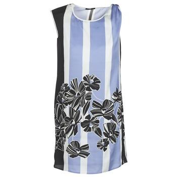 Textil Ženy Krátké šaty Sisley LAPOLLA Modrá / Bílá / Černá