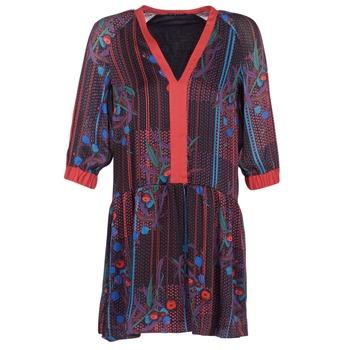 Textil Ženy Krátké šaty Sisley CEPAME Černá / Červená / Modrá