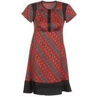 Textil Ženy Krátké šaty Sisley ZEBRIOLO Červená / Černá