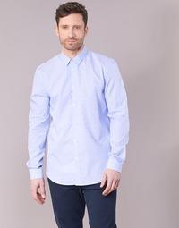 Textil Muži Košile s dlouhymi rukávy Sisley KELAPSET Modrá / Světlá