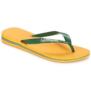 Boty Žabky Havaianas BRAZIL LOGO Žlutá