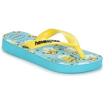 Boty Chlapecké Žabky Havaianas MINIONS Modrá / Žlutá