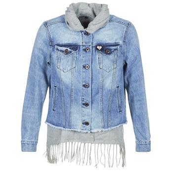 Textil Ženy Riflové bundy Maison Scotch XAOUDE Modrá / Světlá / Šedá