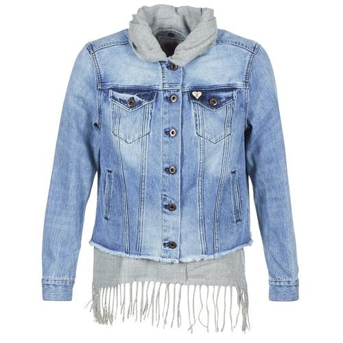 d91831faabea Textil Ženy Riflové bundy Maison Scotch XAOUDE Modrá   Světlá   Šedá
