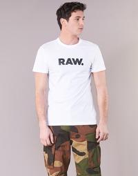 Textil Muži Trička s krátkým rukávem G-Star Raw HOLORN R T S/S Bílá