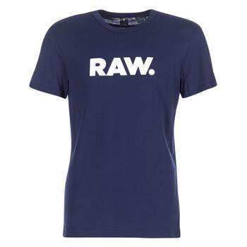 Textil Muži Trička s krátkým rukávem G-Star Raw HOLORN R T S/S Tmavě modrá