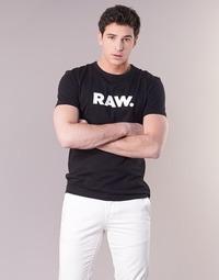 Textil Muži Trička s krátkým rukávem G-Star Raw HOLORN R T S/S Černá