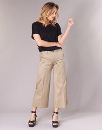 Textil Ženy Mrkváče G-Star Raw BRONSON HIGH LOOSE CHINO 7/8 WMN Béžová