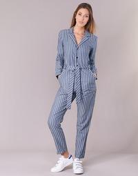 Textil Ženy Overaly / Kalhoty s laclem G-Star Raw DELINE JUMPSUIT WMN L/S Modrá / Bílá