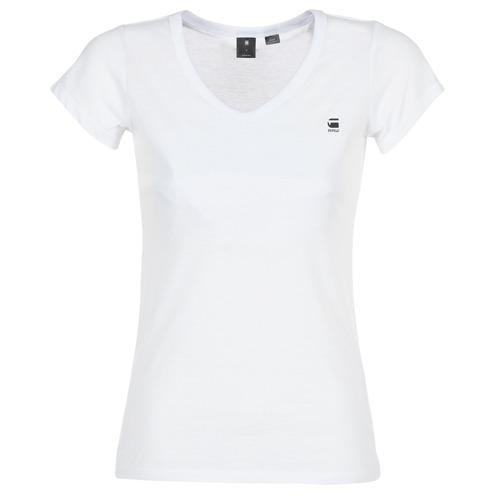 Textil Ženy Trička s krátkým rukávem G-Star Raw EYBEN SLIM V T WMN S/S Bílá