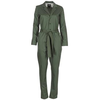 Textil Ženy Overaly / Kalhoty s laclem G-Star Raw DELINE JUMPSUIT WMN L/S Khaki