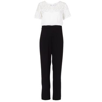 Textil Ženy Overaly / Kalhoty s laclem Molly Bracken YURITOE Černá / Bílá
