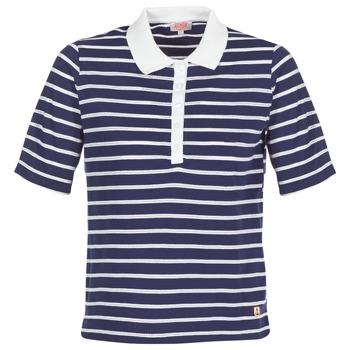 Textil Ženy Polo s krátkými rukávy Armor Lux POLAED Tmavě modrá / Bílá