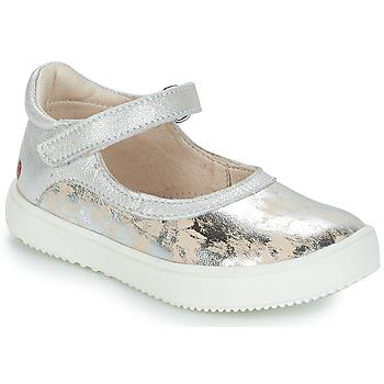 Boty Dívčí Kotníkové boty GBB SAKURA Béžovo-stříbrná