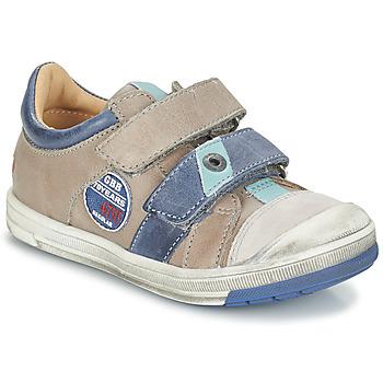 Boty Chlapecké Kotníkové boty GBB SERGE Tmavě šedá - modrá
