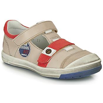Boty Chlapecké Kotníkové boty GBB SCOTT Béžová-červená