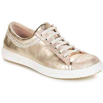 Boty Dívčí Kotníkové boty GBB GINA Béžová-zlatá
