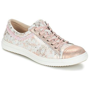 Boty Dívčí Kotníkové boty GBB GINA Růžová-šedá