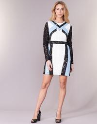 Textil Ženy Krátké šaty Morgan RLIXI Bílá / Černá / Modrá
