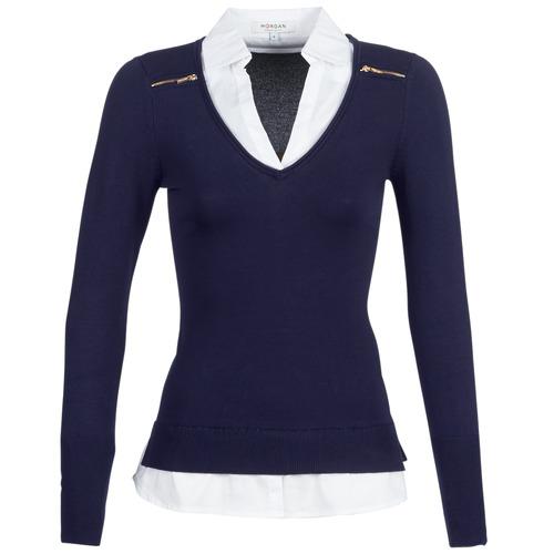 Textil Ženy Svetry Morgan MYLORD Modrá / Bílá