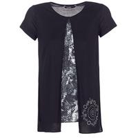 Textil Ženy Trička s krátkým rukávem Desigual NUTILAD Černá