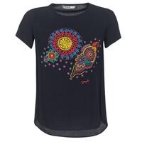 Textil Ženy Trička s krátkým rukávem Desigual NAIKLE Černá