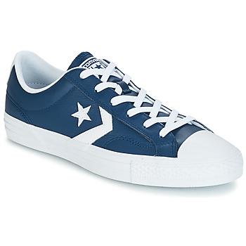 Converse Tenisky Star Player Ox Leather Essentials - Modrá